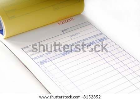 Blank Invoice Stock Photo Edit Now 8152852 Shutterstock