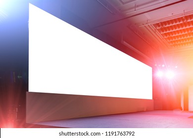 blank large led billboard screen panel background on event light and sound stage show