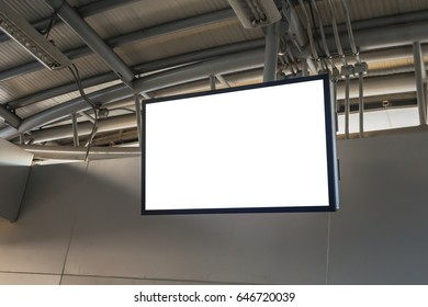Blank LCD Screen mock up in Subway station