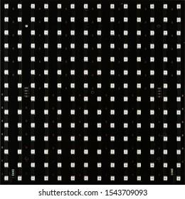 Blank LED matrix isolated on white background