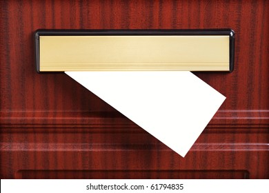 Blank letter coming through the letterbox ready to add your own message