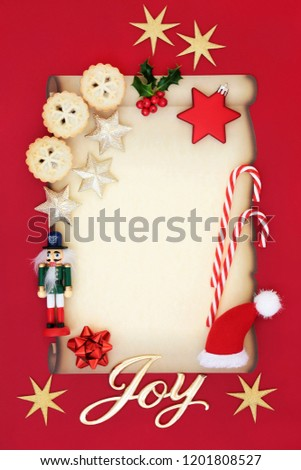 Blank Letter Father Christmas Party Invitation Stock Photo Edit Now