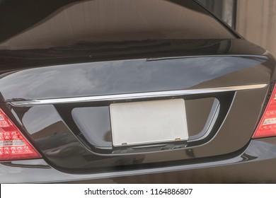 Blank License plate car