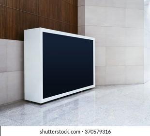 Blank Light box Screen display mock up banner indoor