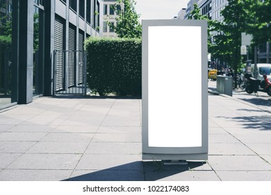 Blank lightbox on a street