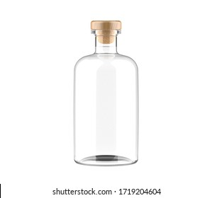 Blank Liquor bottle. Drink Product mockup.