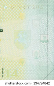 Blank lithuanian passport page for your design