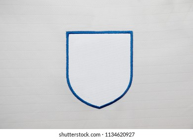 Blank Logo Patch on fabrick background