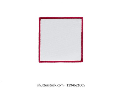 Blank Logo square Patch on white background