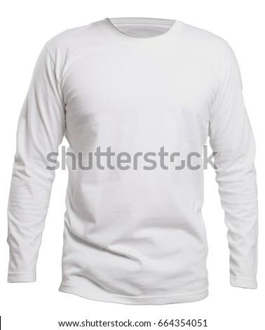 blank long sleve shirt mock template の写真素材 今すぐ編集