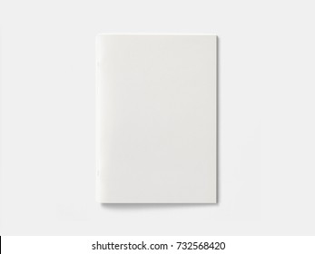 Blank Magazine brochure isolated on White to replace your design