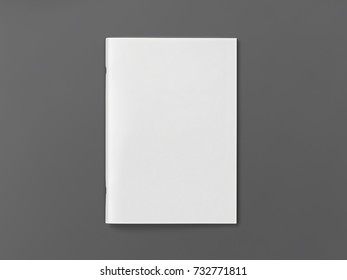 Blank Magazine brochure isolated on grey background to replace your design