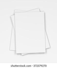 Blank magazines on white background