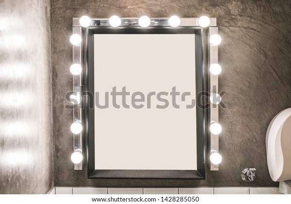 Blank Makeup Mirror Light Bulbs On Stock Photo Edit Now