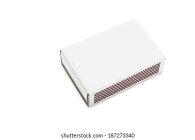 Blank matchbox isolated on white