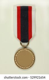 Blank medal on white background