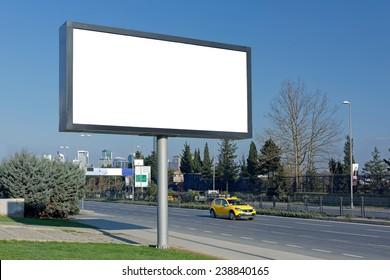 Blank Megaboard of Levent in Istanbul / TURKEY