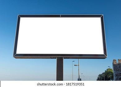 Blank megaboard on the street. Mockup template for advertisement.