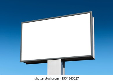 Blank Megalight panel on the blue sky.