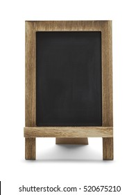 Blank Menu Chalk Board Isolated on White Background.