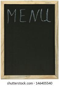 blank menu on blackboard, free copy space
