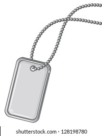 blank metallic identification plate