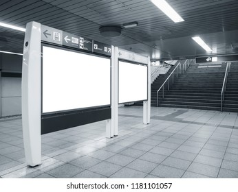 Blank Mock up board template directory Sign in Subway station