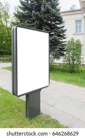 Blank mock up of vertical street poster billboard, outdoor advertising in the city