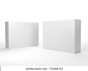 Blank mock-up box product isolated. 3D rendering