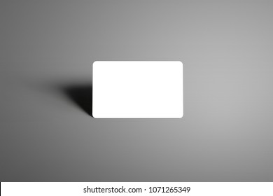 Blank mockup  one bank (gift) card on a studio gray background. Ready to used in your showcase.