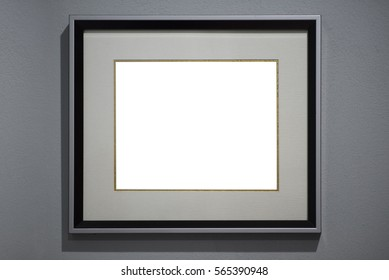Blank modern frame on texture background as concept