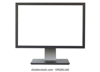 blank monitor isolated on white background with clipping path