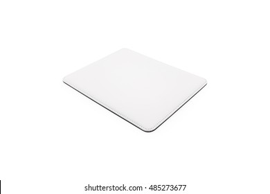 Blank mouse pad on isolated background with clipping path.