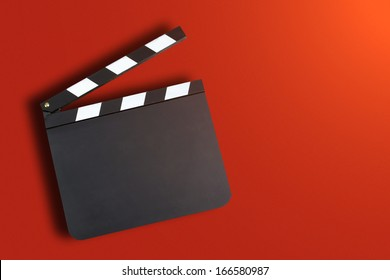 Blank movie production clapper board with copy space