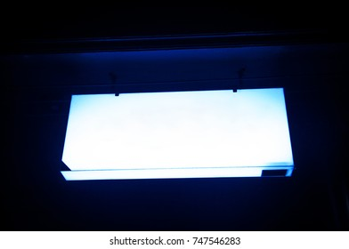 the blank neon light sign