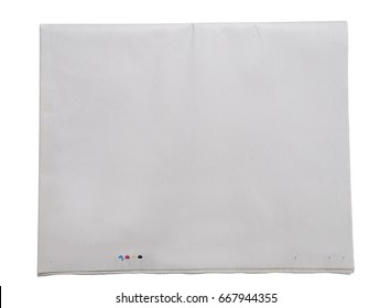 Blank newspaper with CMYK profile isolated on white background.