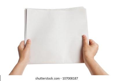 Blank Newspaper Transparent