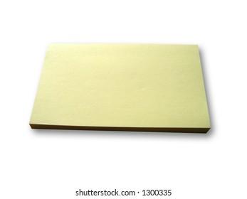 Blank note.