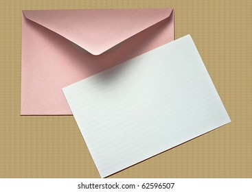 Blank Note Card and Envelope