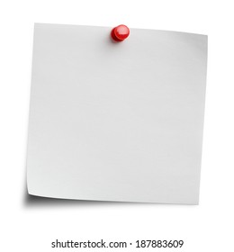 Blank note isolated on white background with clipping path