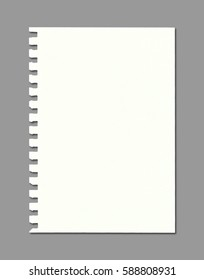 Blank note paper with copy space, Ready for your message or adding more text. (Clipping path included)