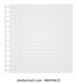 Blank Note Paper Illustration