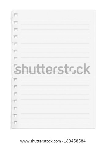 blank note paper lines on white stock photo edit now 160458584