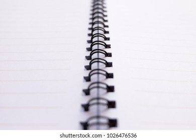 blank notebook have  line for write word.