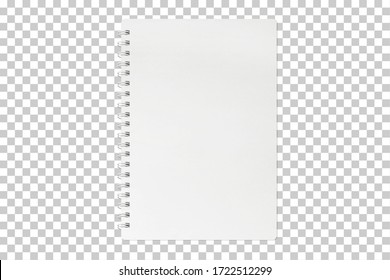 blank notebook mock up isolated on transparent background with clipping path - Shutterstock ID 1722512299