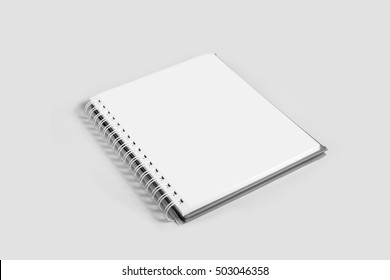 Blank notebook mock up ,Template for advertising or branding