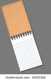 Blank Notebook on Textured Background