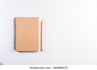 Blank notebook on work space