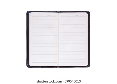 Blank notebooks isolated on a white background
