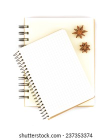 Blank notepad for copy space with anise